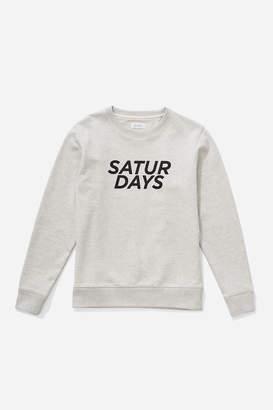 Saturdays NYC Bowery Gotham Italic Sweatshirt