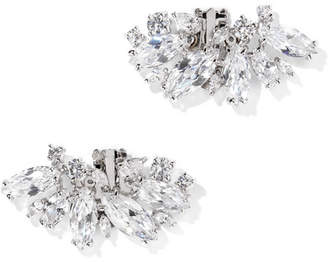 Kenneth Jay Lane Rhodium-plated Cubic Zirconia Shoe Clips - Silver