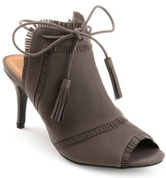 Brinley Co. Womens Fringe Tassle Faux Suede High Heels
