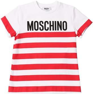 Moschino Striped Cotton Jersey T-Shirt
