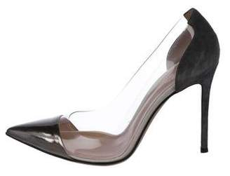 Gianvito Rossi PVC Pointed-Toe Pumps