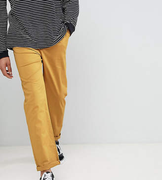 Asos DESIGN Tall relaxed chinos in mustard