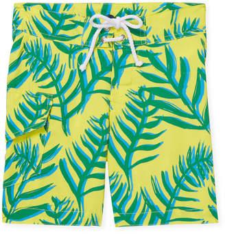 Oscar de la Renta Palm Leaves Surfer Board Short