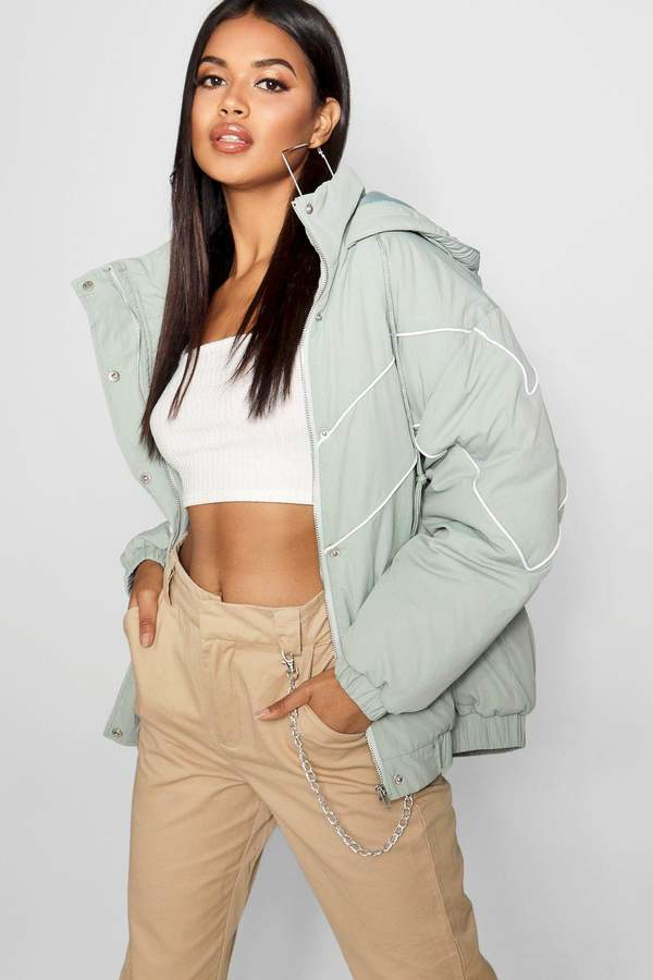 boohoo Hooded Oversized Puffer