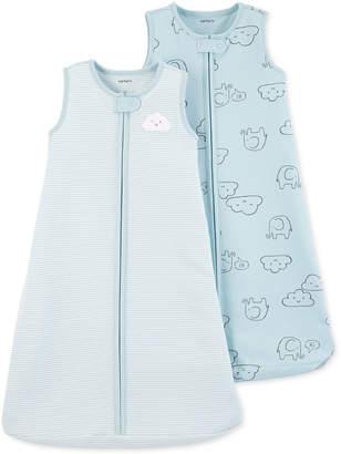 Carter's Baby Boys 2-Pc. Blue Cloud Cotton Sleep Bags Set