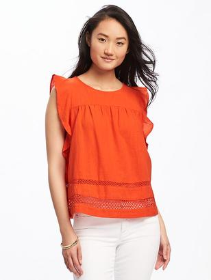 Ruffle-Trim Swing Top for Women $29.94 thestylecure.com