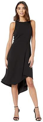 Vince Camuto Scuba Crepe Dress with Asymmetrical Hem