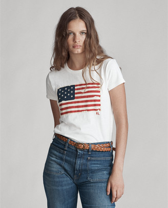 Ralph Lauren Flag Jersey Graphic T-Shirt