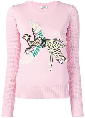 Kenzo embroidered bird jumper