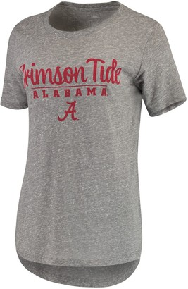 Unbranded Women's Pressbox Heathered Gray Alabama Crimson Tide Cherie Rounded-Bottom Tri-Blend T-Shirt