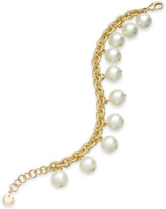 Charter Club Gold-Tone Shaky Imitation Pearl Link Bracelet, Created for Macy's