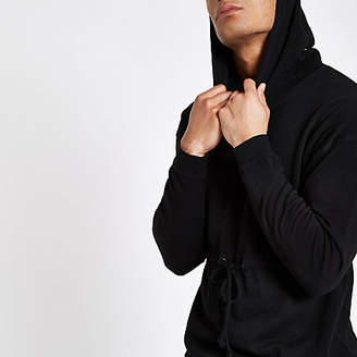 River Island Only and Sons black tie waist hoodie
