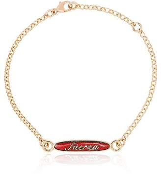 Foundrae red and yellow gold strength adjustable sequence chain necklace