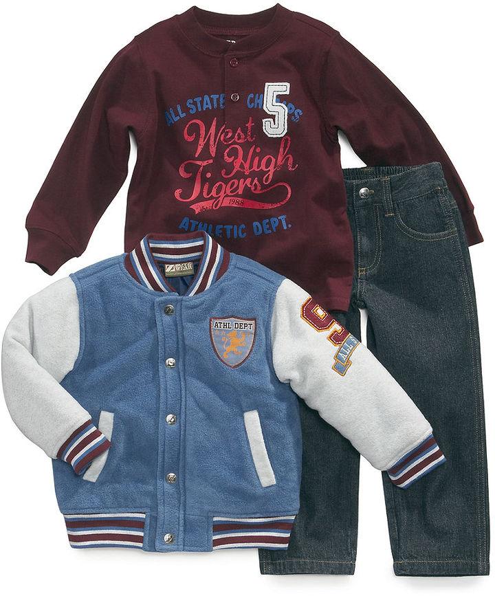 Nannette Kids Set, Little Boys 3-Piece Jacket, Henley and Jeans Set