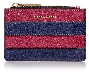 Marc Jacobs Glitter Stripe Top Zip Leather Wallet