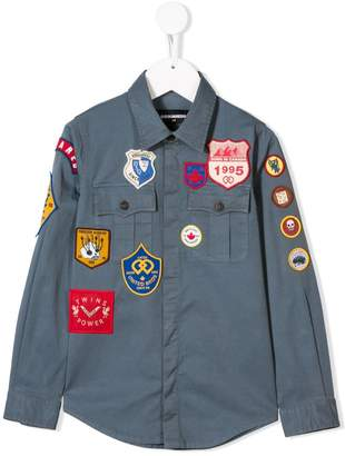 DSQUARED2 patch detailed shirt