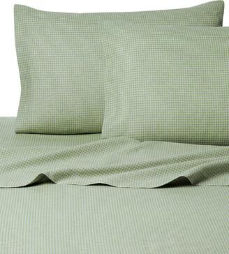 Belle Epoque Gingham Flannel Sage Sheet Set