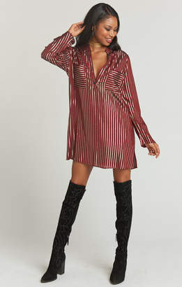 Show Me Your Mumu Maribelle Shirt Dress ~ Late Night Stripe Yarn Dye