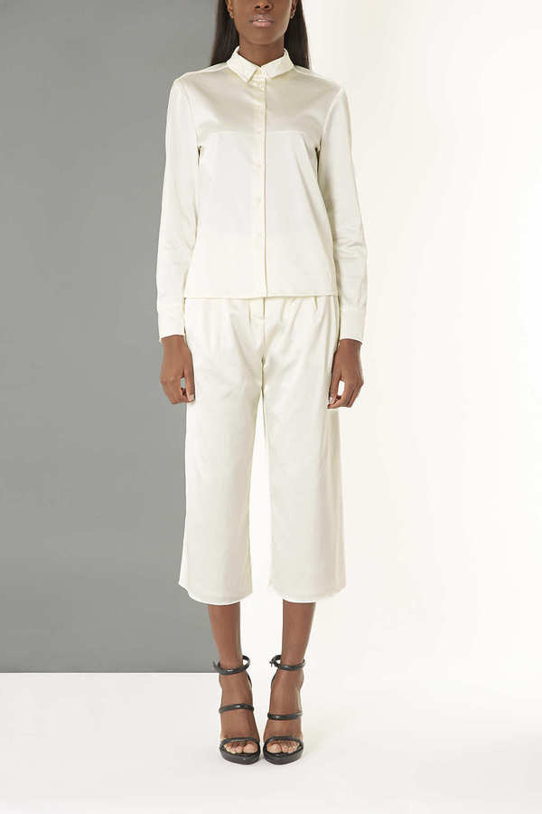 Topshop Satin Wideleg Trousers by Boutique