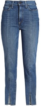 Alice + Olivia Ao.la By Good Cropped High-Rise Slim-Leg Jeans