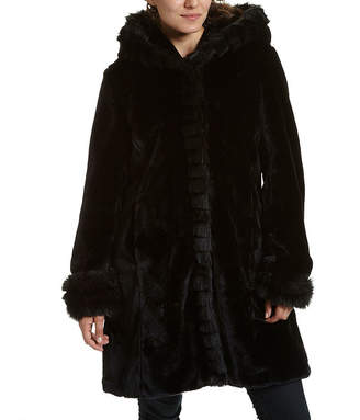 Excelled Leather Excelled Faux-Fur Short Solid Coat