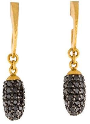 Gurhan Diamond Cocoon Pavé Drop Earrings