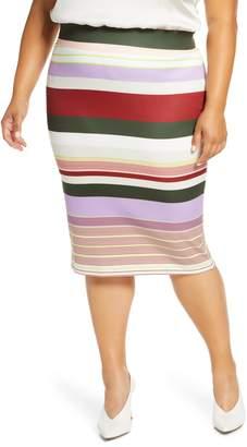 ELOQUII Neoprene Column Skirt