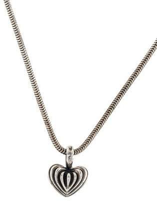 Lagos Fluted Heart Pendant Necklace