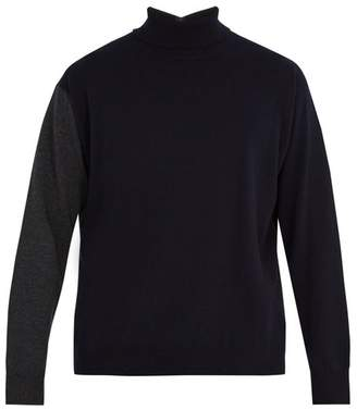 Marni Contrast-back high-neck cashmere sweater