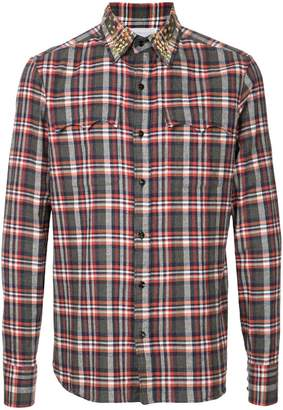 Kolor plaid fitted shirt
