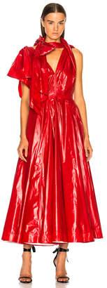 Calvin Klein Tie Neck Midi Dress