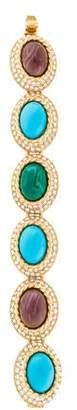Ben-Amun Resin & Crystal Link Bracelet