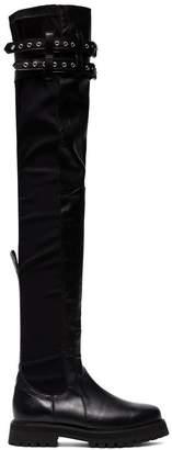 Marques Almeida Marques'almeida Black Army Buckle Leather thigh boots