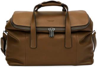Giorgio Armani Deerskin Leather Weekender Bag, Light Brown