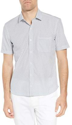 Culturata Trim Fit Fish Print Sport Shirt