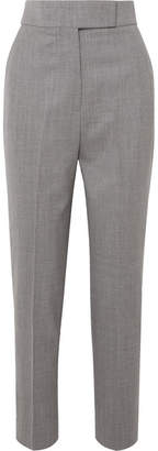 Sara Battaglia Wool-blend Straight-leg Pants - Gray
