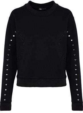 Maje Taylor Eyelet-Embellished Jersey Sweatshirt