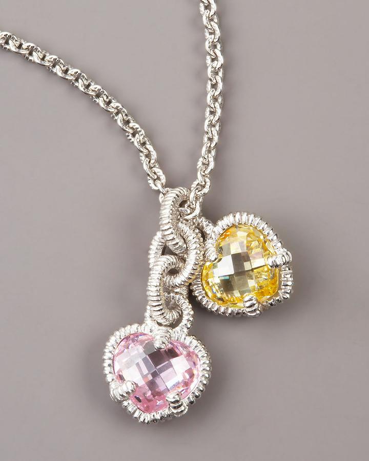 Judith Ripka Heart Charm Necklace