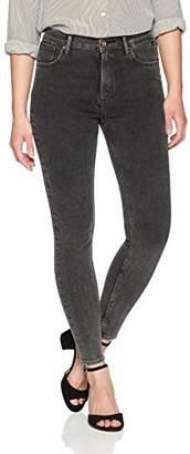 Denim Bloom Women's High Rise Super Skinny Grey Power Stretch Jean 30X28