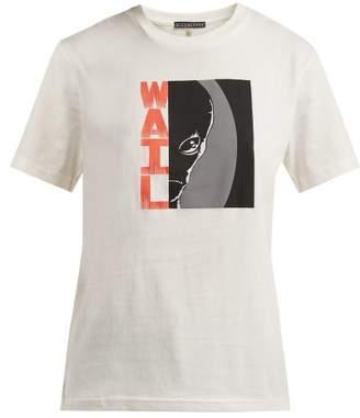 ALEXACHUNG Wail Print Cotton T Shirt - Womens - Ivory