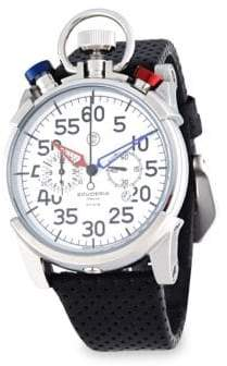 CT Scuderia Corsa Stainless Steel& Perforated Leather Strap Watch