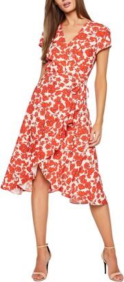 Bardot Fiesta Floral Faux Wrap Dress