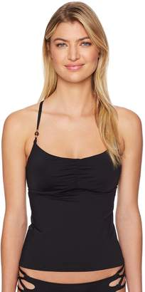 Laundry by Shelli Segal Women's Solid Cinched Front Underwire Tankini
