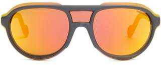 Moncler D Frame Acetate Sunglasses - Mens - Grey
