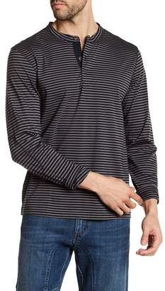 Joe Fresh Striped Long Sleeve Henley Tee
