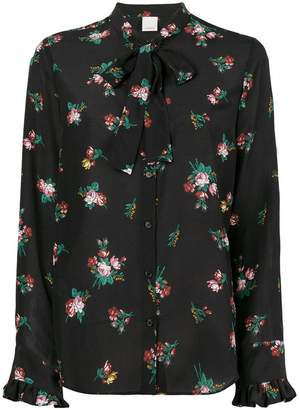 Pinko floral print bow tie shirt