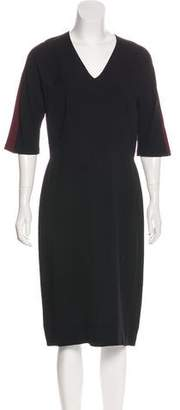 Fendi Short Sleeve Midi Dress