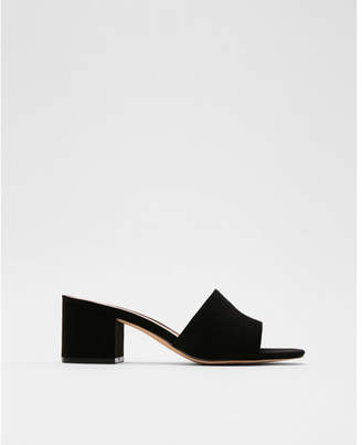 Express low heel slide mules