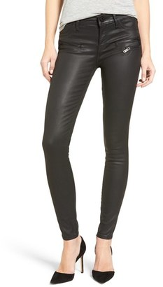 Women's Dl1961 Florence Instasculpt Coated Skinny Jeans $208 thestylecure.com
