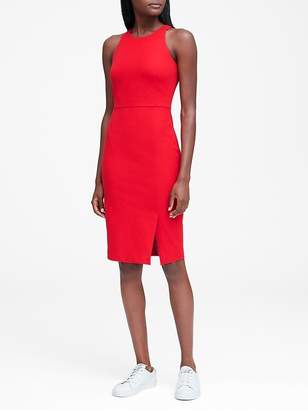 Banana Republic Bi-Stretch Racer-Neck Sheath Dress